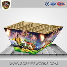 180s W shape hunan china pyro big cake fireworks