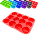 Heat Resistant 12 Cup Silicone Muffin Pan, Cupcake Baking Molds, Cake Pan
