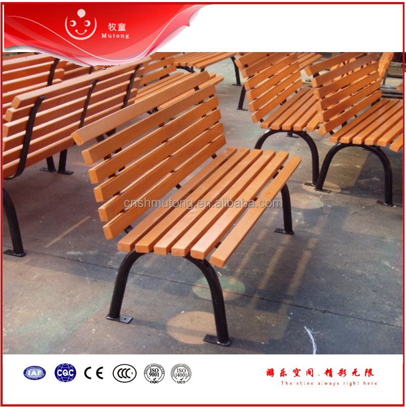 Factory Price used park benches Composite Wooden Leisure Garden Park Bench