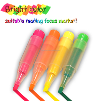 Top selling wholesale Promotional highlighter pen with chain