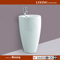 Luxury bathroom one piece ceramic pedestal basin