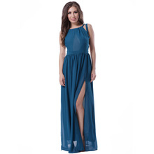2016 Wholesale evening blue prom dress long