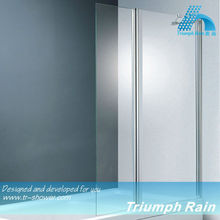 AOOC1402CL Folding frameless shower screen for bath tub