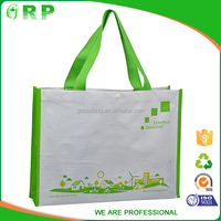 Reusable colorful full printed foldable eco bag recycle pp woven shopping bag