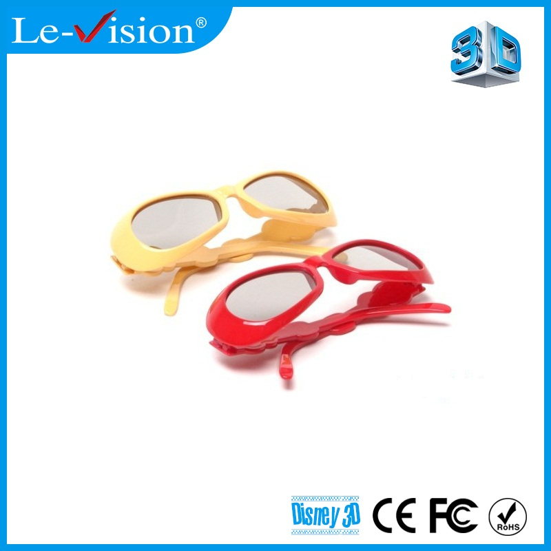 Bulk Cheap Shock 3D Effect Video Kids 3D Projector Glasses DVD Movie Game DLP 3D Circular Glasses Cinema 3D Glasses