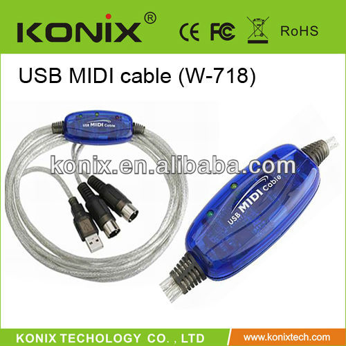 diy midi to usb cable 1 in 1 out 16 MIDI input /16 MIDI output channels