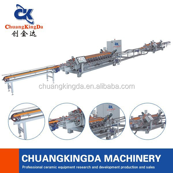 Automatic chamfering and squaring machine for manufacturering factory Ceramic Wall Tiles