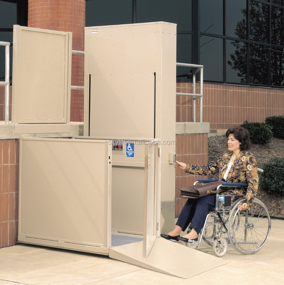 Home Model Vertical Disabled Wheelchair Lift Elevator for Eleder