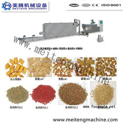 CE certified extruded dog/fish/cat/pet pellet food extrusion production line