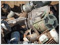 used metal electric motor scrap