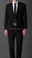 China Supplier Men's New York Classic Black Button Three Piece Suit Uniforms