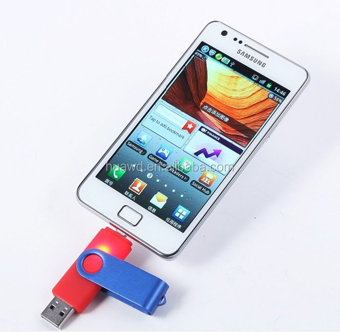 Pas cher coloré Promotion cadeau otg USB 2.0 / pivotant USB Flash drive, Usb Flash Drive 500 gb