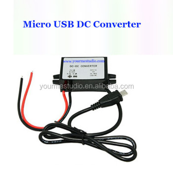 Waterproof DC 24V To 5V 3A Micro Single USB Converter For Bus