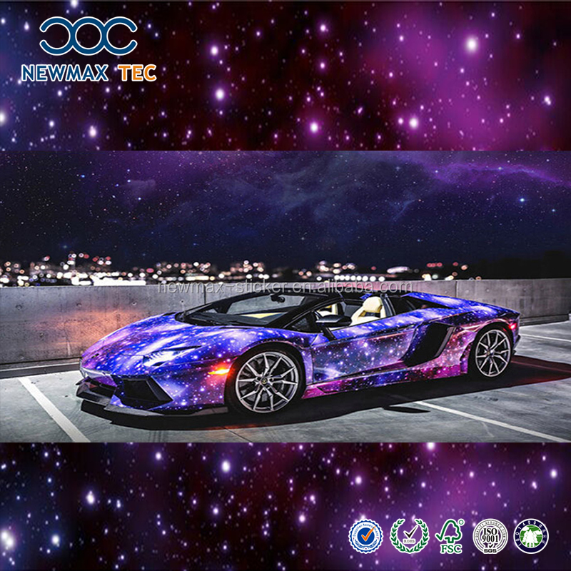 Factory Supply Holographic Chrome Gold Car Wrap Vinyl