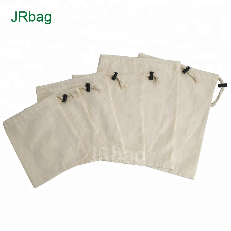 Eco-friendly 100% Natural Cotton Bread Packaging Bag Set of 6pcs