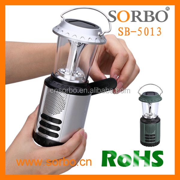 Solar Hand Crank LED Camping Lantern with Flashlight Light AM FM Radio Emergency Mobile Device Charger