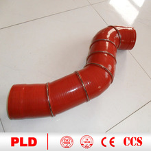 Material stanard ISO 5922,ASTM A197 90 degree elbow silicon rubber hose hot sale
