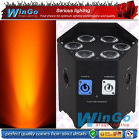 long lasting high quality battery powered led stage lighting wireless dmx slim par 6pcs