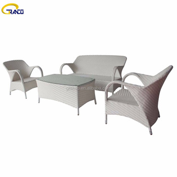 factory directly garden furniture outdoor rattan sofa set