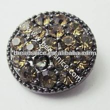 Wholesale magnetic button jewelry in Fushcia Color wholesale crystal buttons