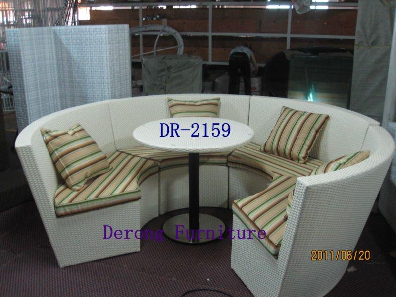 Muebles de jardín de ratán círculo de la forma redonda combinate ...