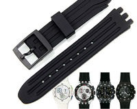 black waterproof rubber silicone watch straps