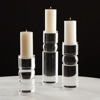 Round Crystal Acrylic Candle Holder
