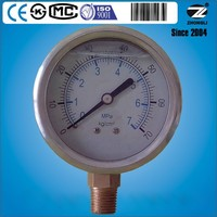60mm stainless steel oil filled pressure measuring instrument