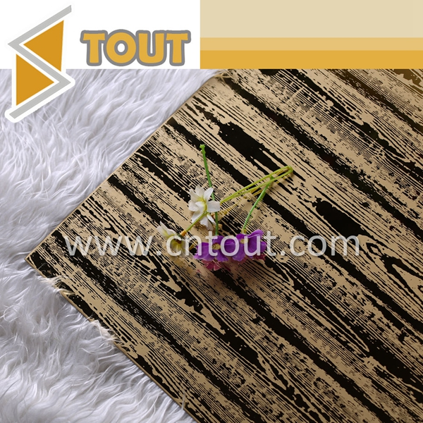 Wood Grain Etched Stainless Steel Sheet Decorative Wall Panel