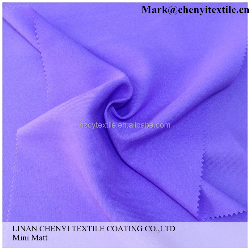 Manufacturer 100poly plain souild dyed mini matt textile for table cloth