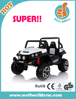 WDJE1166 2017 New Licensed Kids Remote Control Toys Electric Four Wheels Ride On Car Baby Racing Seat