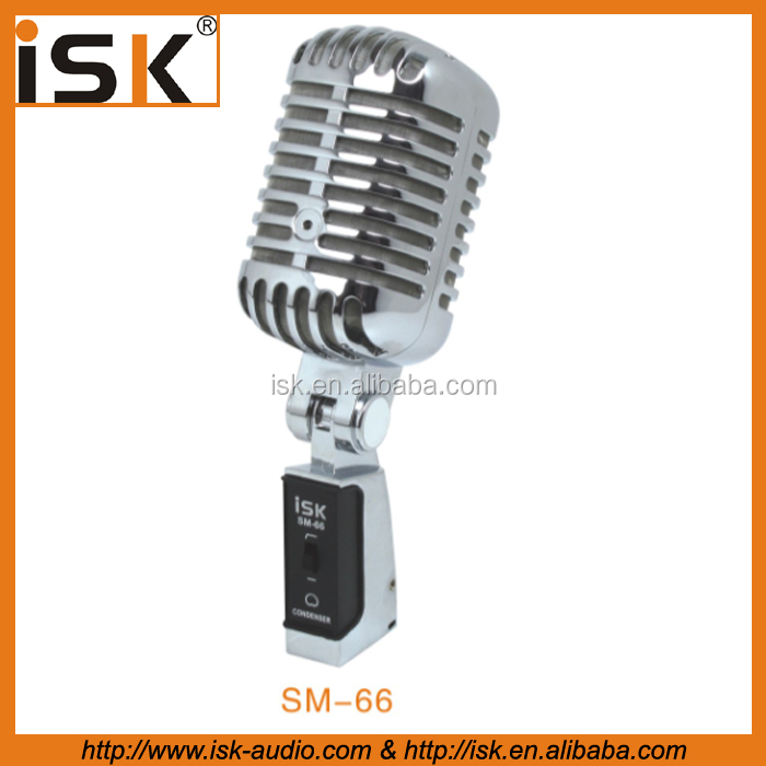 classical large diaphragm condenser recording microphone