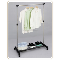 Functional single-pole hangers design for shoes&cloth