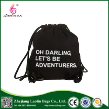 China sale excellent quality drawstring backpack student canvas bag