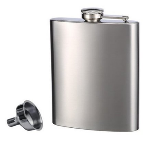8 Oz mini type stainless steel hip flask