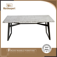 Granite marble metal dining table bases sets with 6 chairs