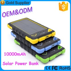 High quality key chain solar charger waterproof 10000mah power bank