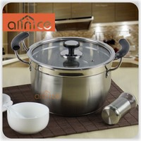 Riveted Bakelite Handles stainless soup pot with 3/7 QT alternative capacity not react with food