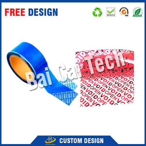 cheap custom tamper evident honeycomb holographic warranty OPEN void security label, void security sticker, void security tape