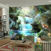 PAG wall sticker big size 3d picture nature wall stickers lenticular poster