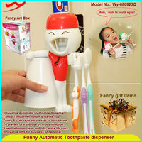 New Fashion Practical Automatic Toothpaste Dispenser Toothbrush Holder