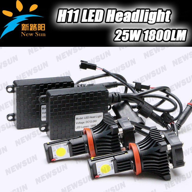LED Head Lamp H11 25w 1800lm With C ree LED Chips For Car/Motorcycle