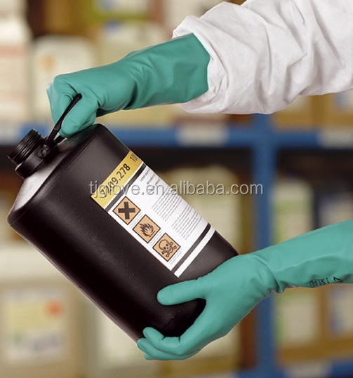 EN 374 & EN 388 tested Nitrile Chemical Resistant <strong>Glove</strong> for industry Use