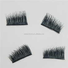 Factory manufacturer false 3d magnet eyelashes fake magnetic lashes
