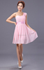 Chiffon Bridesmaid Evening Formal Party Ball Gown Prom Dress New Pink