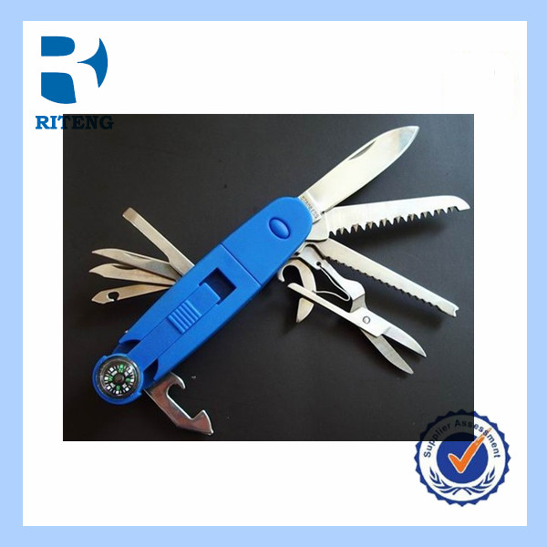Stainless Steel Multifunction Knife with compass