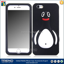 hot selling cute penguin silicone case for iphone 6