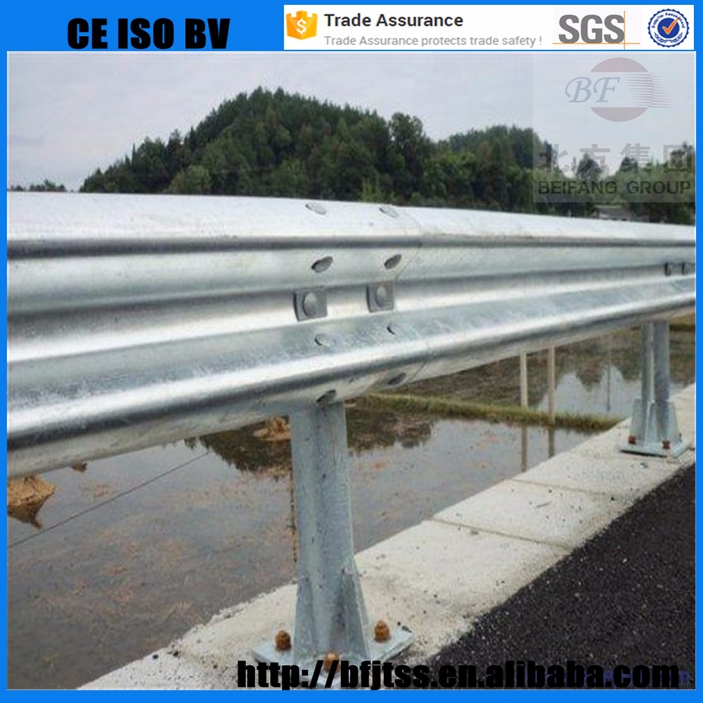 Trade Assurance road protection high quality production roadway guardrail Stainless steel parking bollards