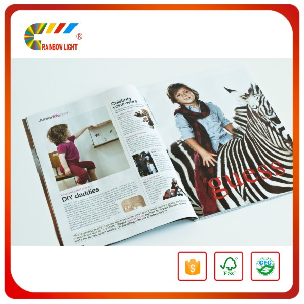 Short run hot sale coloring print low cost commercial fashion magazine