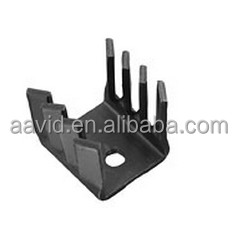 pin aluminum fin heat sink featuring twisted fins